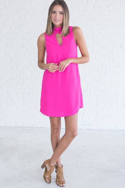 fuchsia pink sorority mini cocktail special occasion party dresses for women