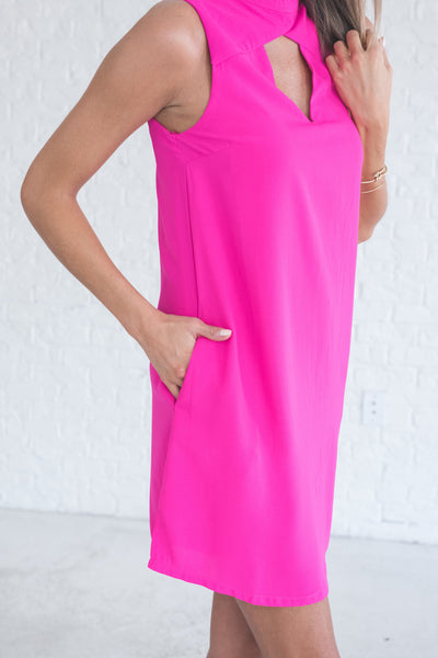 hot pink cutout mini dresses from affordable online boutique for women