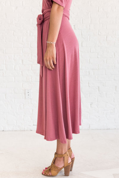 Pink Nursing Friendly Midi Dresses for Going Out or Special Occasion