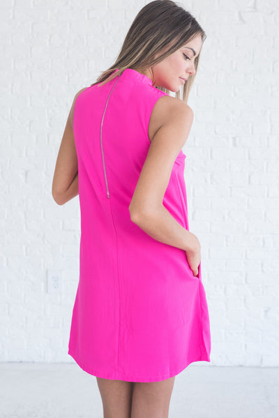 fuchsia hot pink cutout mini dress for party sorority night out