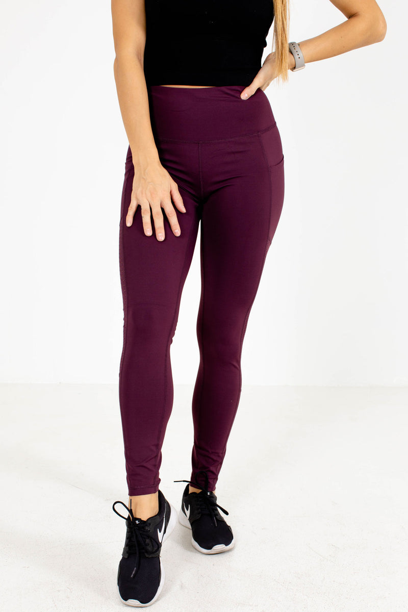 Premium Active Pocket Detail Leggings - Purple