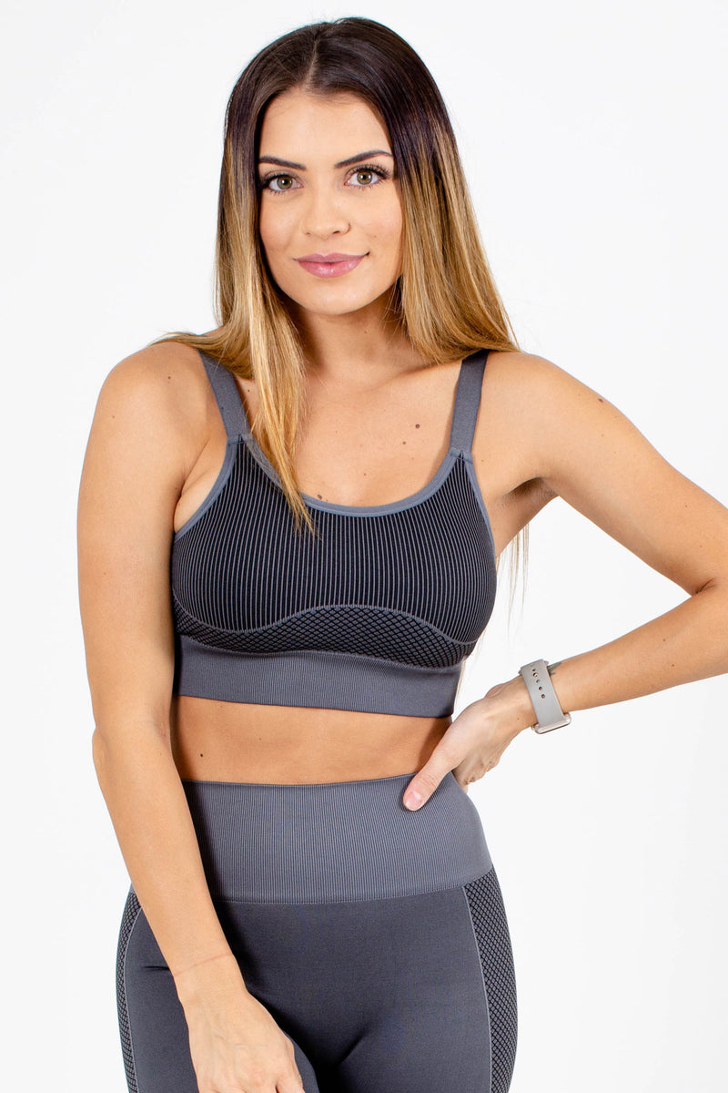 Premium Sports Bra - Dark Gray