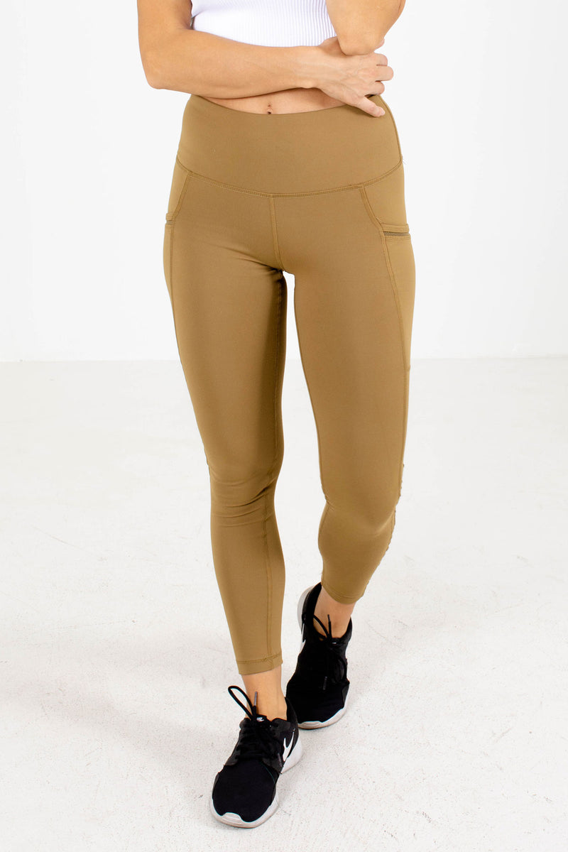 Premium Pocket Leggings - Light Brown
