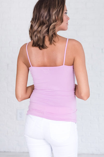 Lilac Lavender Purple Cute Tank Tops for Layering