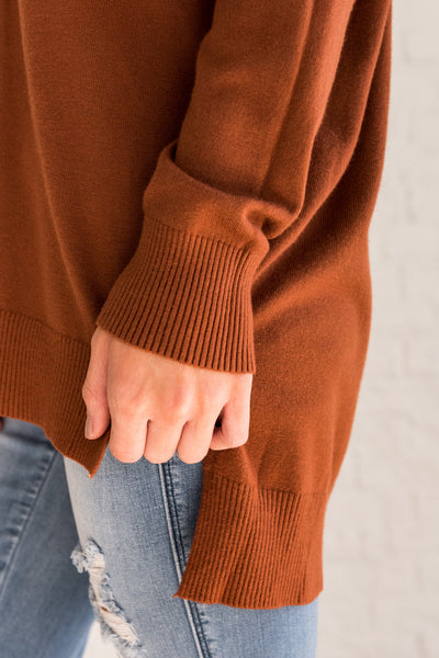 rust burnt orange cute soft comfy cozy warm sweaters for women