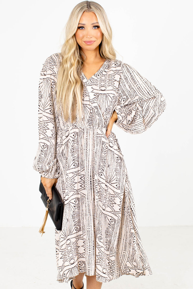 Set Your Spirit Free Patterned Midi Dress