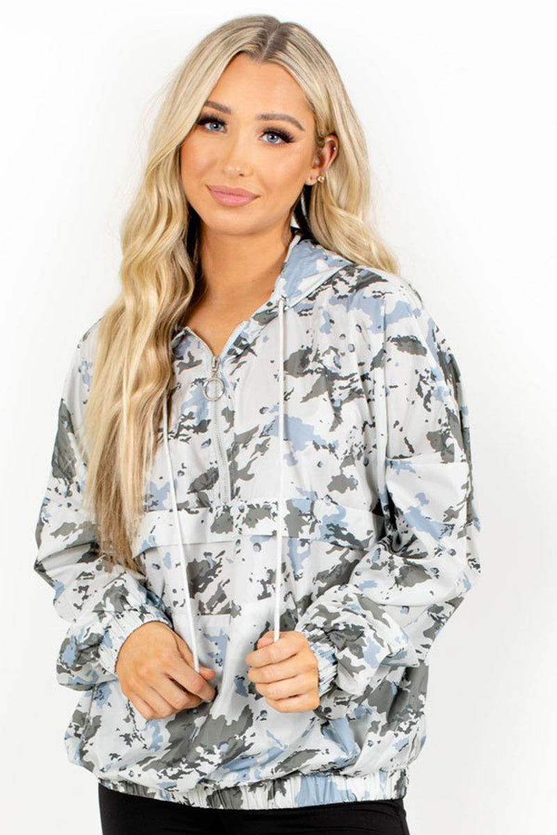 Stay On Target Camo Windbreaker - Light Green