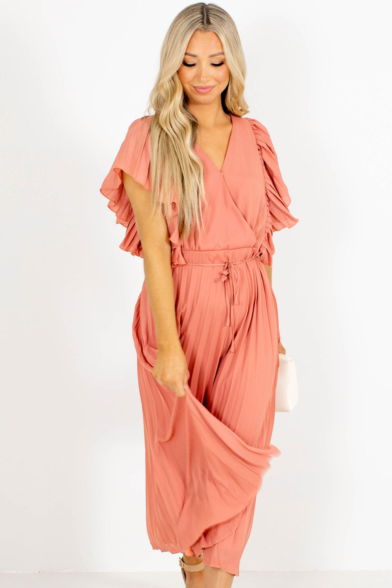 Stolen Kisses Pleated Midi Dress