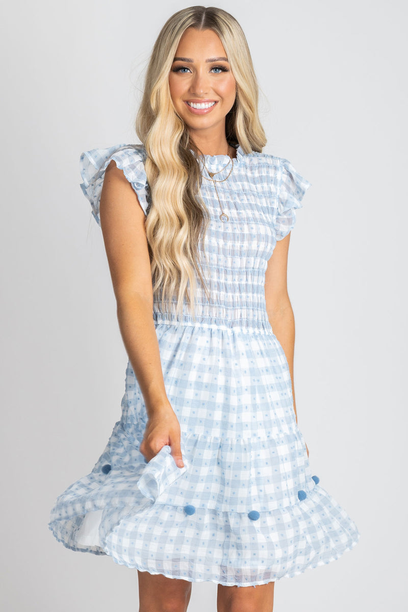 Summer Picnic Gingham Mini Dress