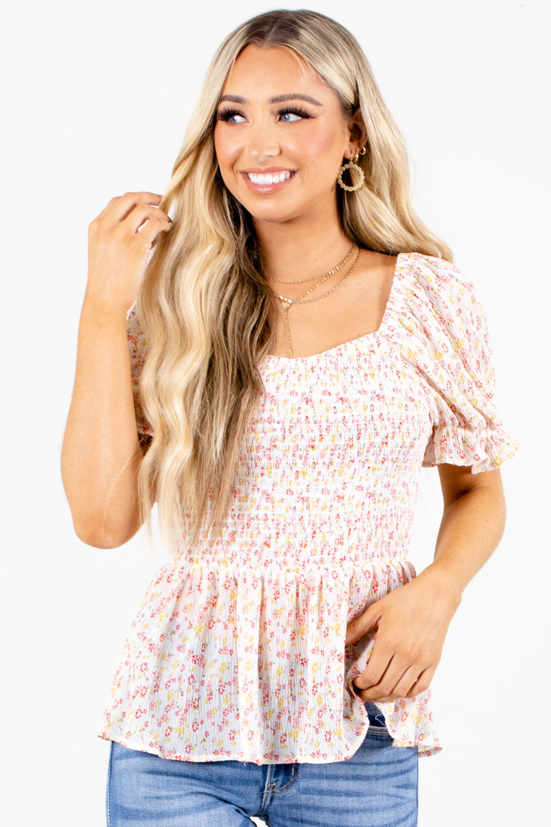 Sweet Thing Floral Top - Light Pink