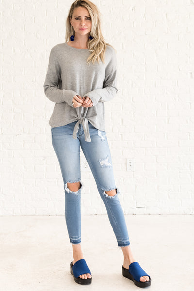Gray Tops for Women