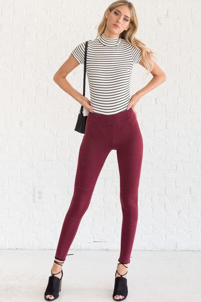 Burgundy Red Womens Fall Clothing