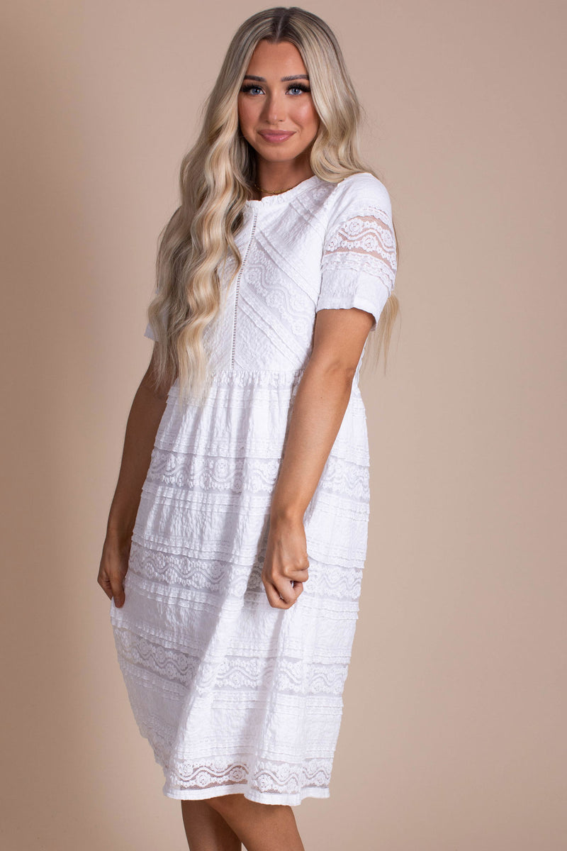 Truly Yours Lace Midi Dress