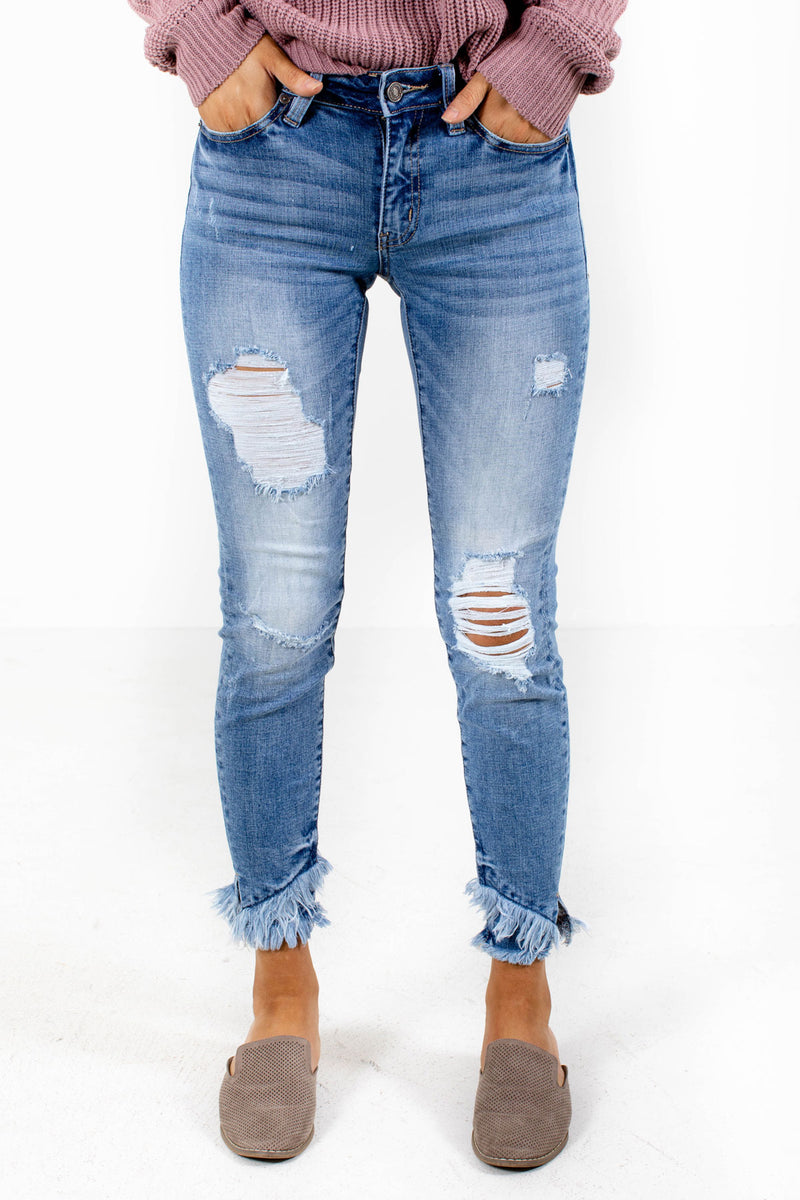 Undercover Babe Distressed Denim KanCan Jeans - Blue