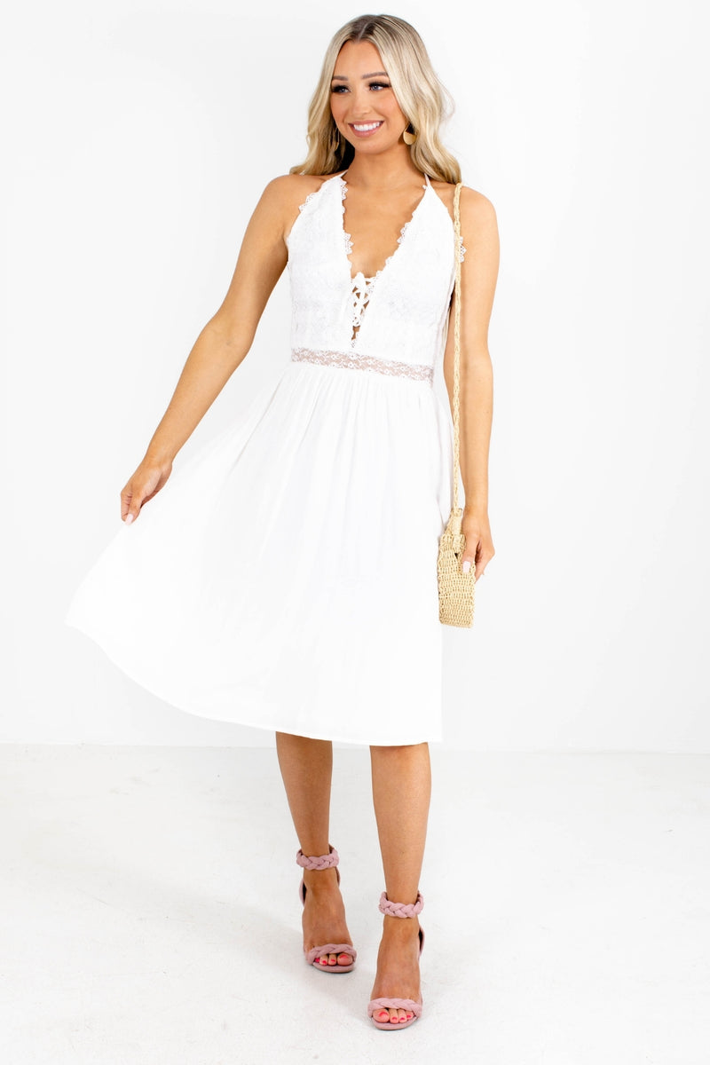 Enchanted Love Midi Dress - White