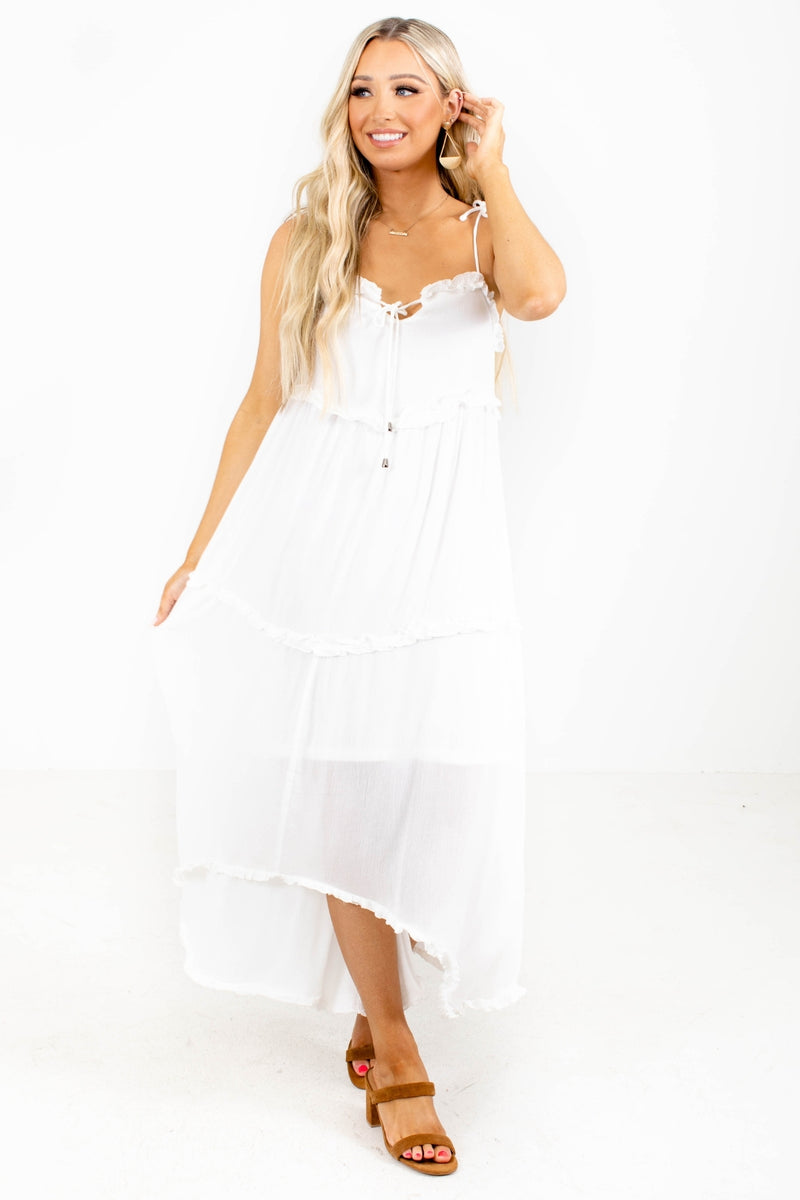 Close Your Eyes Midi Dress - White