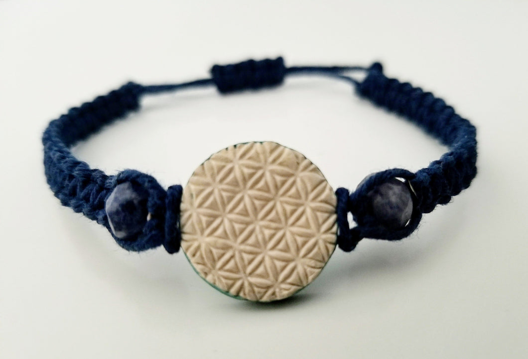 Ocean Wave Flower of Life Pendant