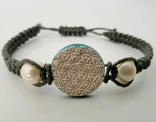 Light Shade of Grey Flower of Life Pendant