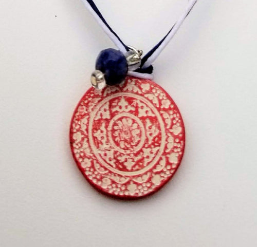 Red White and Blue Balance Pendant