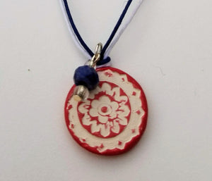 Red White and Blue Cherish Pendant