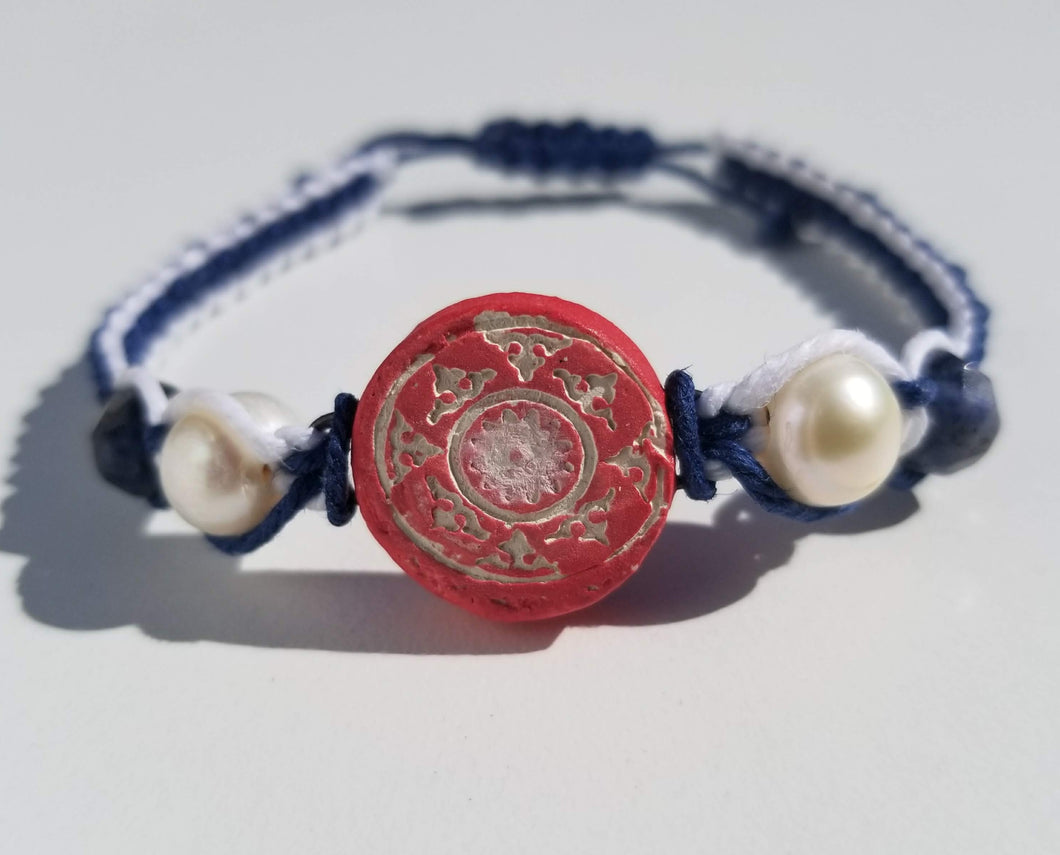 Red, White, and Blue Balance Pendant