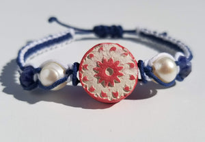 Red, White, and Blue Sun Pendant