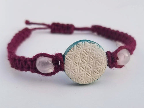 Rose Quartz Flower of Life Pendant