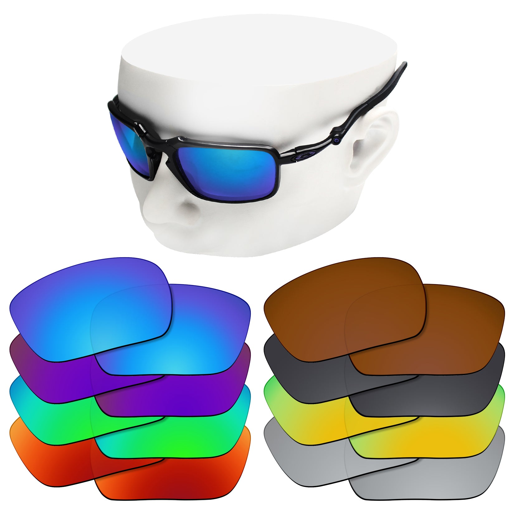 oakley badman replacement lenses polarized