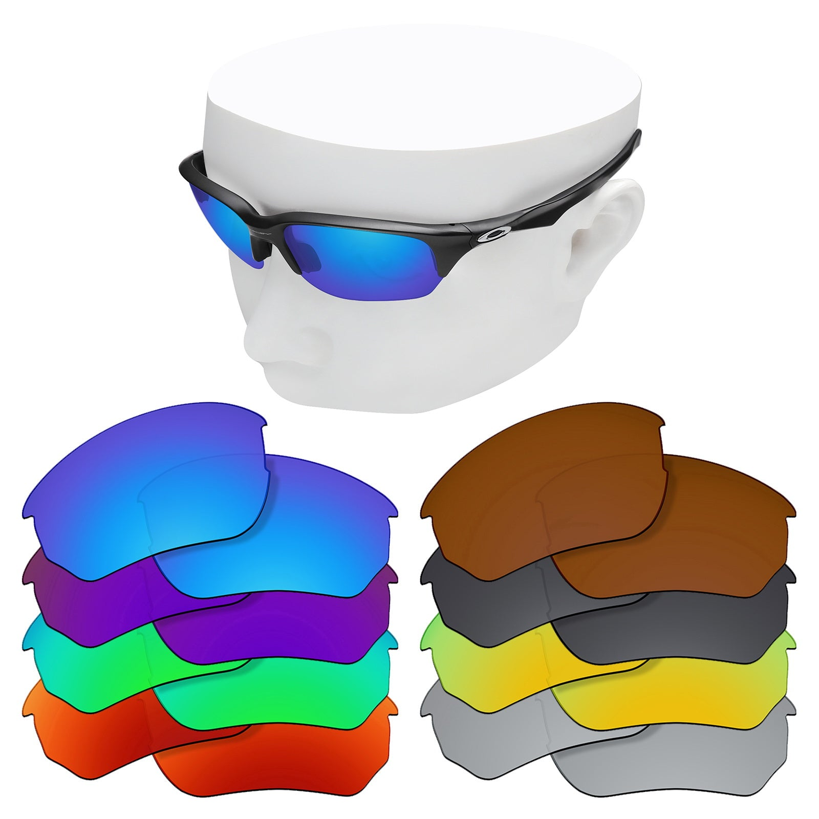 oakley flak beta replacement lenses polarized