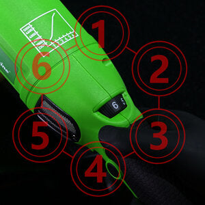 Maxshine Variable Speed Control 6-speed control dial allows you to adjust the car polisher speed according to different applications