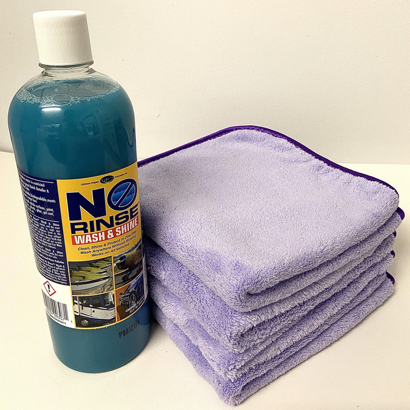 Optimum No Rinse Wash & Shine Bundle-Waterless Wash-Bundle-ONR with 4 x TRC Minx Lavender-Detailing Shed