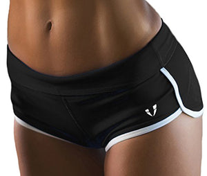 FIRM ABS New Fashion Women's Casual Leisure Short Pants Sport Shorts Black/White Medium