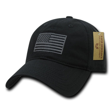 Rapid Dominance American Flag Embroidered Washed Cotton Baseball Cap