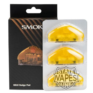 SMOK ROLO 3Pack Badge Pod Cartridge ReplacementYellowStateline Vapes