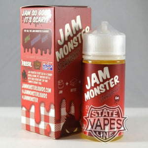 Jam Monster Strawberry 100ml6mgStateline Vapes