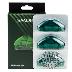 Smok Rolo 3Pack Badge Pod Cartridge Replacement Green Systems