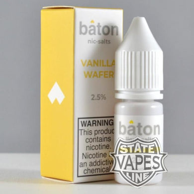 Baton Vanilla Wafer Nic Salt 10ml - Stateline Vapes