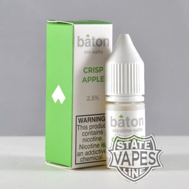 Baton Crisp Apple Nic Salt 10ml - Stateline Vapes