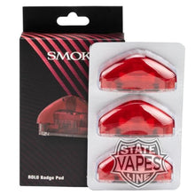 SMOK ROLO 3Pack Badge Pod Cartridge ReplacementRedStateline Vapes