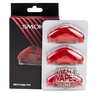 Smok Rolo 3Pack Badge Pod Cartridge Replacement Red Systems