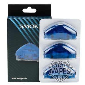 Smok Rolo 3Pack Badge Pod Cartridge Replacement Blue Systems