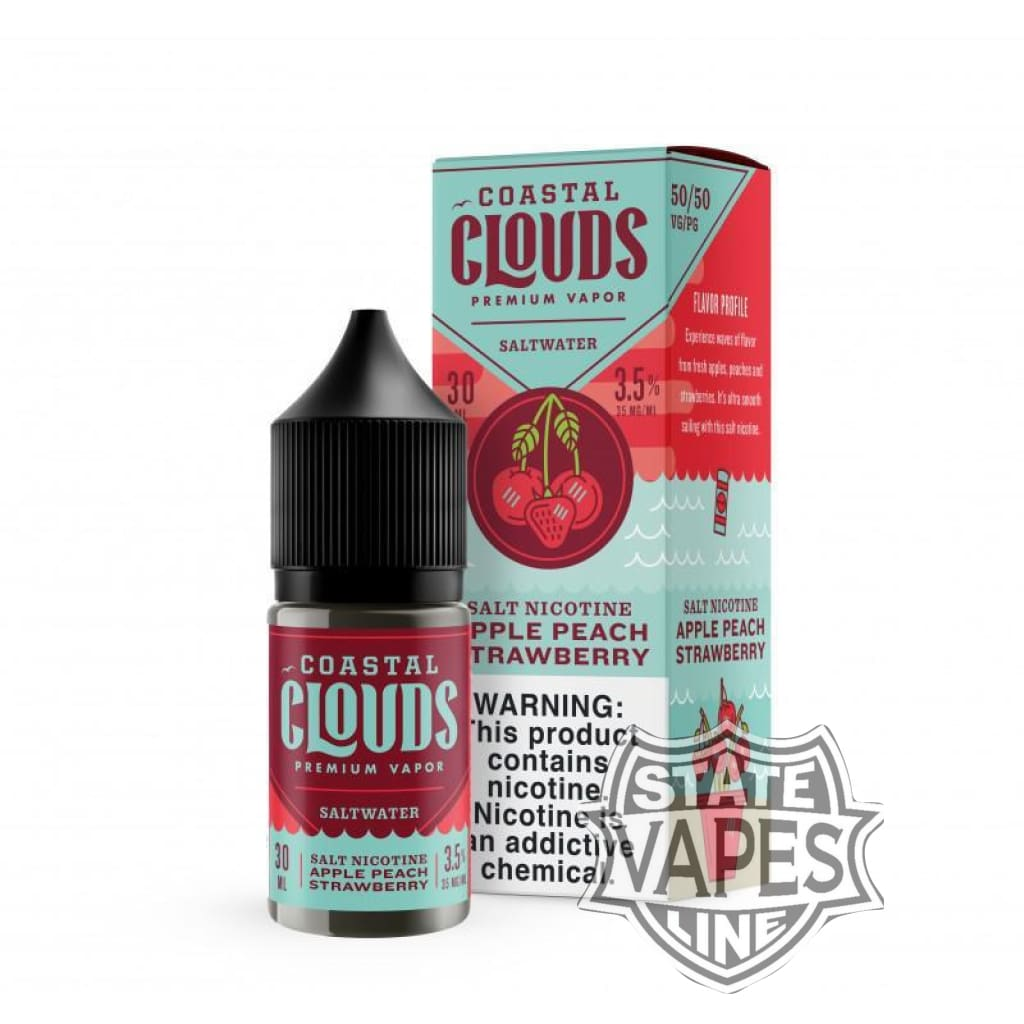 Coastal Clouds Salt Apple Peach Strawberry 30ml