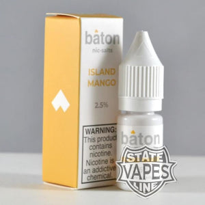 Baton Island Mango Nic Salt 10ml 2.5% 25mg Stateline Vapes