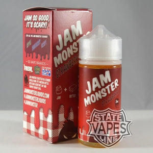 Jam Monster Strawberry 100mlStateline Vapes