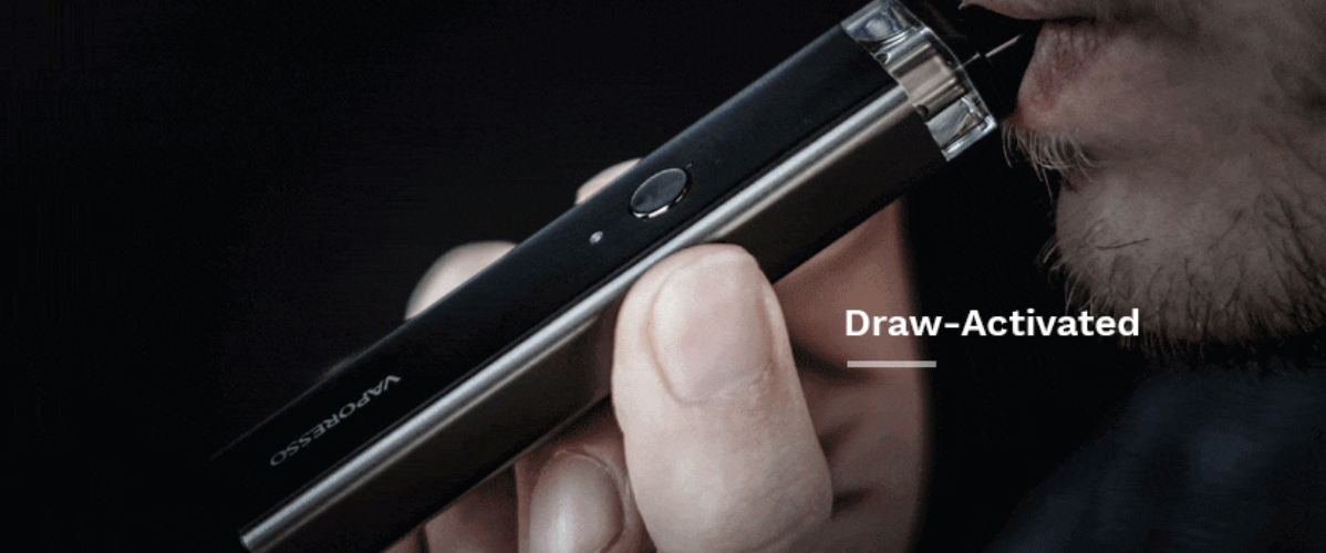 vaporesso xros draw activated