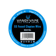 Vandyvape Fused Clapton SS316L Wire 24ga*2(=)+32ga 10ft
