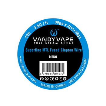 Vandyvape Superfine MTL Fused Clapton Ni80 Wire 30ga*2+38ga 10ft