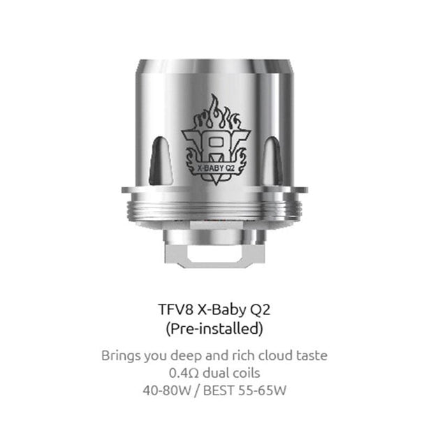 SMOK X-Baby Q2 Replacement Coil 0.4ohm for TFV8 X-Baby (3pcs/pack)