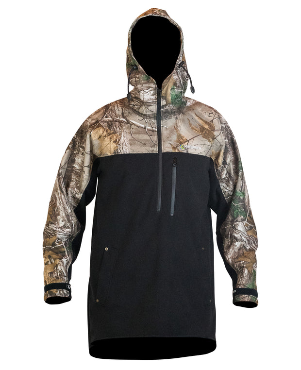Weathershield Camo half zip hoodie | Kaiwaka Clothing