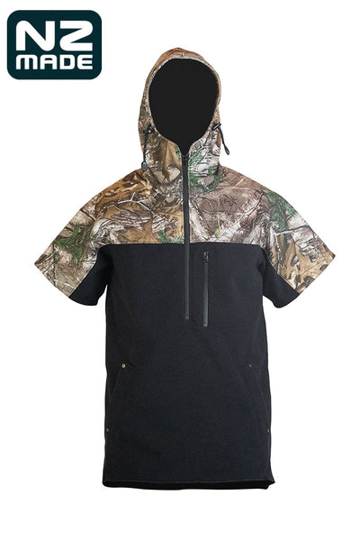 Weathershield Camo Short Sleeve Hoodie | Kaiwaka Clothing